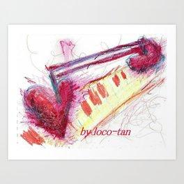 melody heart Art Print