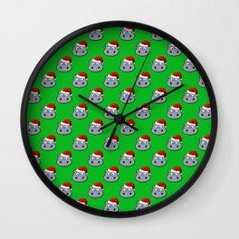 Santa Hippo Wall Clock