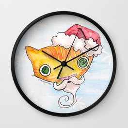 """Oro?"" Santa Wall Clock"