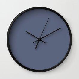 Vintage New England Shaker Village Dark Soldier Blue Milk Paint Wall Clock