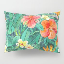 Classic Tropical Garden Pillow Sham