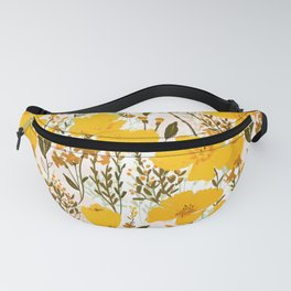 Yellow roaming wildflowers Fanny Pack