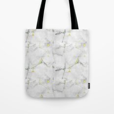 Yellow Cracked Design Tote Bag