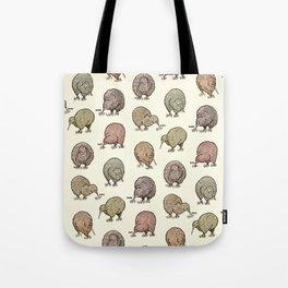 Hungry Kiwis – Cool Earth Tones Tote Bag