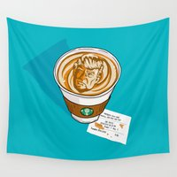 spice Wall Tapestries featuring Trumpkin Spice Latte by Chris Piascik