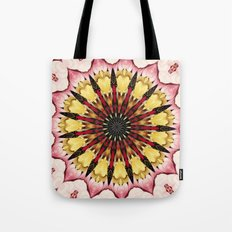 Tribal Spears and Fading Hearts Mandala Tote Bag