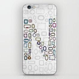 letter N - nailed frames iPhone Skin