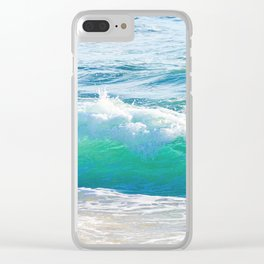 Gentle Surf Clear iPhone Case