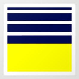 Summer Patio Perfect, Yellow, White & Navy Kunstdrucke