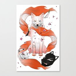 Red Kitsune Canvas Print