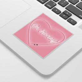 Oh Honey! 'Neon' Sign Sticker