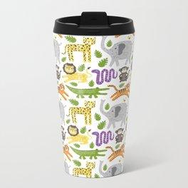 Kids Jungle Design Metal Travel Mug