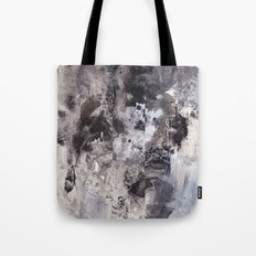 Monochrome Chaos Tote Bag