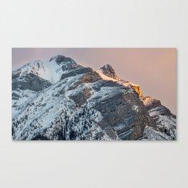 Lake Minnewanka Mountain Top Canvas Print
