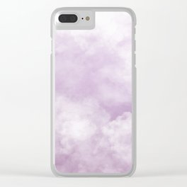 Namaste | Lavender Clouds Clear iPhone Case