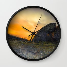 Arctic night Wall Clock