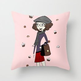 Have a break, have a cupcake ! Throw Pillow