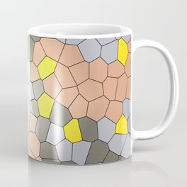 Mosaik yellow grey Graphic Coffee Mug