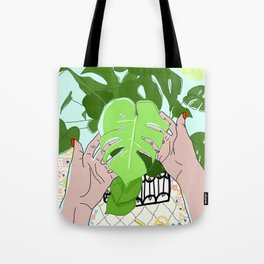 Monstera hands Tote Bag