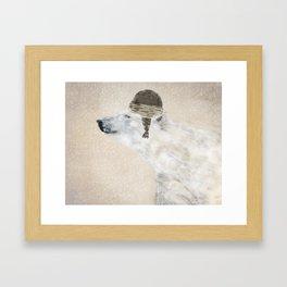 hello there polar bear Framed Art Print
