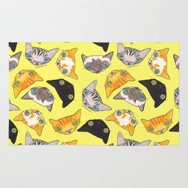 """Oro?"" Cats-Canary Yellow Rug"