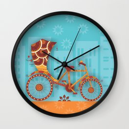 Unique Indian Vehicle - Cycle Rickshaw Wall Clock