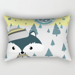 Cute fox ready for winter Rectangular Pillow