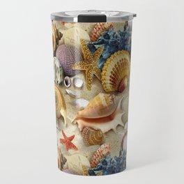 Fancy Seashells And Starfish Travel Mug