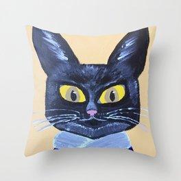 Marx the Cat Throw Pillow