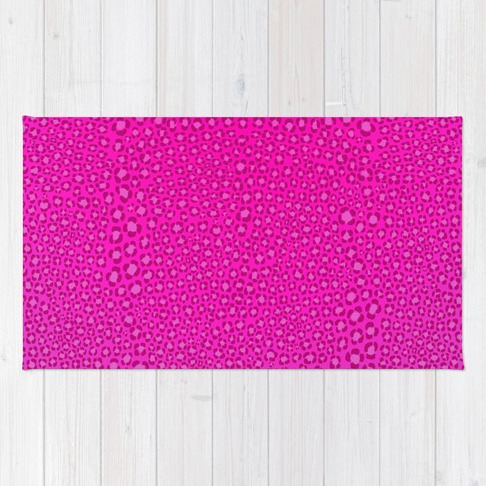Wild Thing Hot Pink Leopard Print Rug