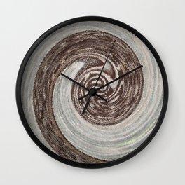 Brown Swirl Abstrect Wall Clock