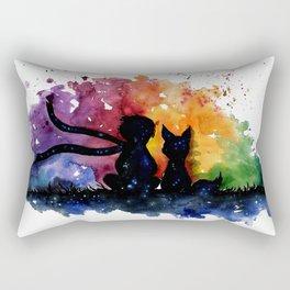 El Principito The Little Prince Fox Book Watercolor Art Rectangular Pillow
