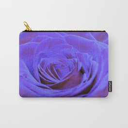 Purple Blue Rose Carry-All Pouch