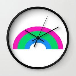 Polysexual Rainbow Wall Clock