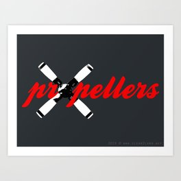Propellers 4 Blade --- clear2land.net  copyright Art Print