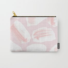 Brushstrokes Pattern Pink Carry-All Pouch