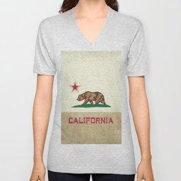Vintage California Flag Unisex V-Neck
