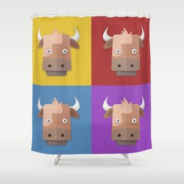 Warhol's Cow Shower Curtain