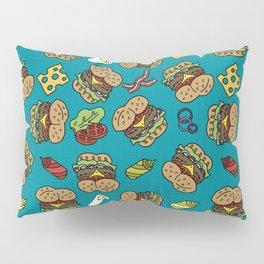 Burger Pattern Pillow Sham