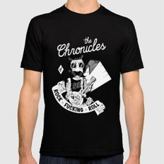 The Chronicles of Rock and Roll! Black Mens Fitted Tee MEDIUM