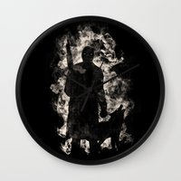 monster hunter Wall Clocks featuring hunter by barmalisiRTB