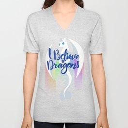 I Believe in Dragons Unisex V-Neck