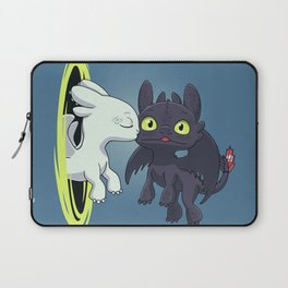 Kiss Fury // Kawaii Dragon, Cute Night & Light, Viking Laptop Sleeve