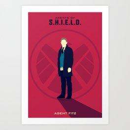 Agents Fitz (Agents of SHIELD S02) Art Print