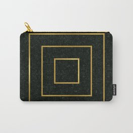 Golden Squares Carry-All Pouch