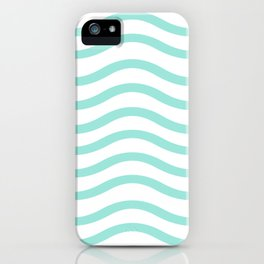 Mint Waves iPhone Case