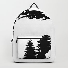 Sasquatch Bigfoot in The Woods Backpack