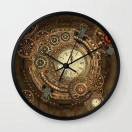 Steampunk, clockwork Wall Clock