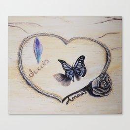 L'amour laisse ses traces Canvas Print