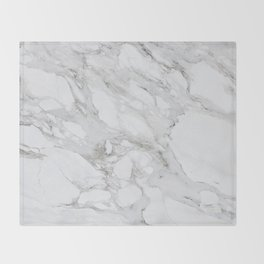 Calacatta Marble Throw Blanket